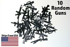 LEGO Guns Lot of 10 Military Army SWAT Assault Rifle Sniper Shotgun Machine Toy