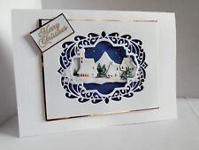Personalised Handmade Christmas Card Winter Village