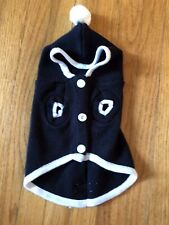 Black Hooded Sweater Large Woof The Small Dog Company Shirt Vest Coat Apparel