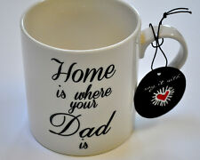 """Coffe Mug Black White  """"Home is where your Dad is"""" 16oz"""