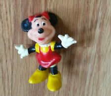 """Vintage Disney Minnie Mouse Figurine Plastic Pvc Made in Hong Kong Approx 1.5"""""""