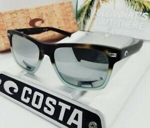 """580G - COSTA DEL MAR tide pool/silver mirror """"ARANSAS"""" POLARIZED sunglasses NEW"""