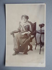 R&L Postcard: Sheffield Studio Portait of a Seated Lady, Edwardian Card