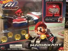 Hot Wheels Ai Mario Kart Mario Smart Car Body & cartridge Kit Mariokart