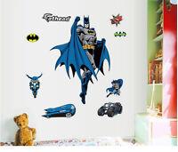 Batman Removable Wall Sticker Vinyl Mural Kids Bedroom Wall Home Decors US SHIP