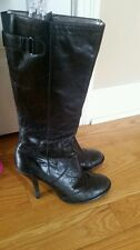 Tribeca By Kenneth Cole Black Heel Boots-Size 8 1/2