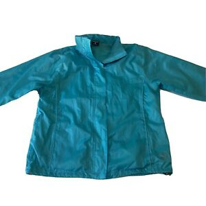 Wild Country Ladies Rain Jacket With Hood - Blue - Size 18