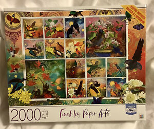 Finchley Paper Arts 2000 Piece Birds Of Asia Milton Bradley ~ Jigsaw Puzzle