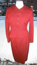 True vintage 1940's custom made pinup hourglass suit Forstmann Virgin wool small
