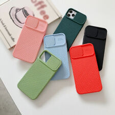 Funda Protectora Lente Deslizante Blanda Para iPhone 12 Pro Max 12 Mini 11 XR 8