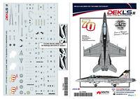 1/72 F/A-18 Hornet - RAAF 75 SQN 70th Anniversary Decals DEKL's II