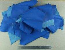 1 Kilo Ritagli Di pelle di Vitello Nappa Blu Celeste Grana Naturale