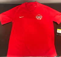 NEW ~ Nike Canada National Team  Red Soccer Jersey. Men's. sz: Small. MSRP $165