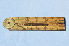 Vintage LUFKIN #873L Boxwood & Brass Bound Combination Rule Level & Inclinometer