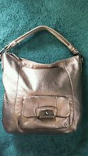 Coach Metalic Gold/Bronze Leather Kristin Hobo Shoulder Bag Handbag Purse #14783