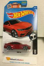BMW M4 #189 * Dark RED * Hot Wheels 2016 USA Card * n155