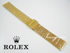 STEEL GOLD PLATED WATCH STRAP FOR  ROLEX SUBMARINER DATE JUST YACHT MASTER 20mm