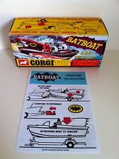 Corgi 107 Batboat Empty Repro Box & Instructions Only