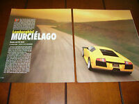 2002 LAMBORGHINI MURCIELAGO ***ORIGINAL ARTICLE / ROAD TEST***