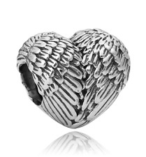 💎New Quality Silver Angelic Feather Wing Charm fits European Brand Bracelet