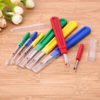 8pcs Plastic Thread Cutter Seam Ripper Stitch Unpicker Sewing Tool Handle Craft