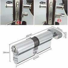 New X70 SilverTone Cylinder Hardware Indoor Aluminum Home Security Door Lock