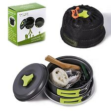 TTLIFE Camping Cookware Mess Kit Backpacking Gear Hiking Outdoors Bug Out Bag...