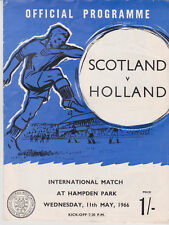Programme / Programma Scotland v Holland 11-05-1966 friendly