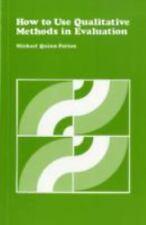 CSE Program Evaluation Kit: How to Use Qualitative Methods in Evaluation Vol. 4