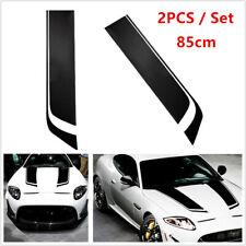 2PCS Black Racing Car SUV Hood Stripe Decal Auto Vinyl Bonnet Sticker Washable