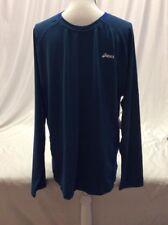 Asics Men's Athletics XS LS, Lagoon Blue, Size XL, Retail 38