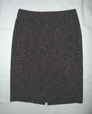 Banana Republic Black & Purple Animal print straight pencil skirt Sz 2 Worn Once