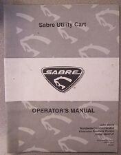 JOHN DEERE OPERATOR'S MANUAL SABRE UTILITY CART