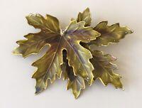 Vintage  Maple Leaf brooch pin