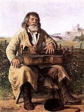 Pintura Retrato Estudio Lipinski zanfona Hombre impresión arte cartel lf717