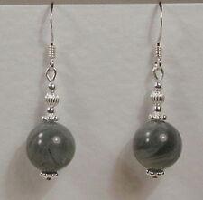 STERLING SILVER 925 Grey Labradorite Gemstone EARRINGS Handmade UNUSUAL