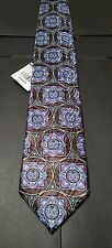 Zegna Tie NWT $195 Mint Made in Italy 100% Silk Exclusive Paisley / Medallion