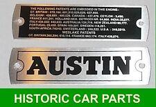 Nombre del cuadro de eje de balancín de Metal & patente Austin Healey Sprite Mk1 placas para 948 1958-61