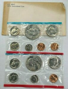 1974 US Mint P D Uncirculated 13 Coin Set ☆1 Set from Lot☆