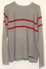A&F Abercrombie Mens Grey Acrylic Cotton Long Sleeve Crew Neck Sweater XL