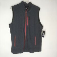 Tapout dark heather gray red full zip vest mens Size XXL NWT $65 outerwear
