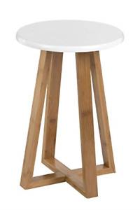 Premier Housewares Bamboo Kitchen Stool Wooden Bar Stool Round Kitchen Stools x