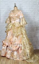 Theatre Victorian Edwardian Style Gown Dress Costume Wedding Stage UK 12