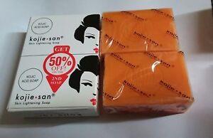 Genuine 2x135g Kojie San Kojic Acid Soap Bars Skin Lightening Kojiesan Whitening