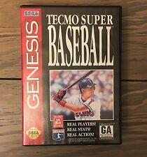 Tecmo Super Baseball Sega Genesis Case & Cartridge