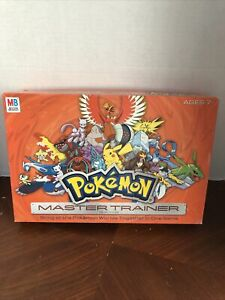 Pokemon Master Trainer Board Game 100% COMPLETE Milton Bradley Hasbro 2005