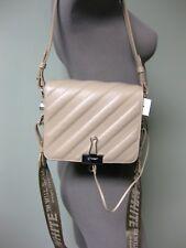 OFF-WHITE C/O VIRGIL ABLOH AUTH Binder Clip Padded Leather Logo Webbed Strap Bag