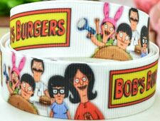 "7/8"" 2 Yards Bob's Burgers Grosgrain Ribbon Gift Wrap Bows Lanyards Cards Crafts"