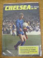09/10/1985 Chelsea v Mansfield Town [Football League Cup] . This item has been i