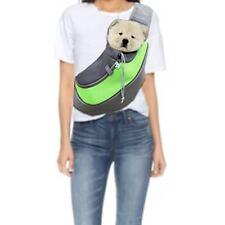 Équipements de transport vert en tissu pour chien